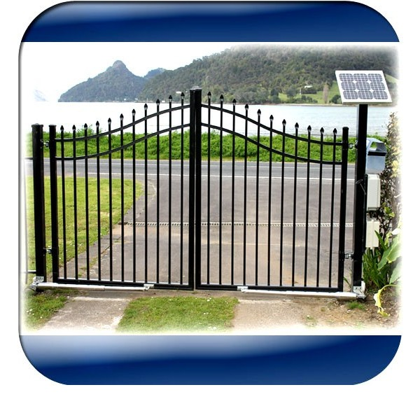 V w solar power system for automatic gate openers