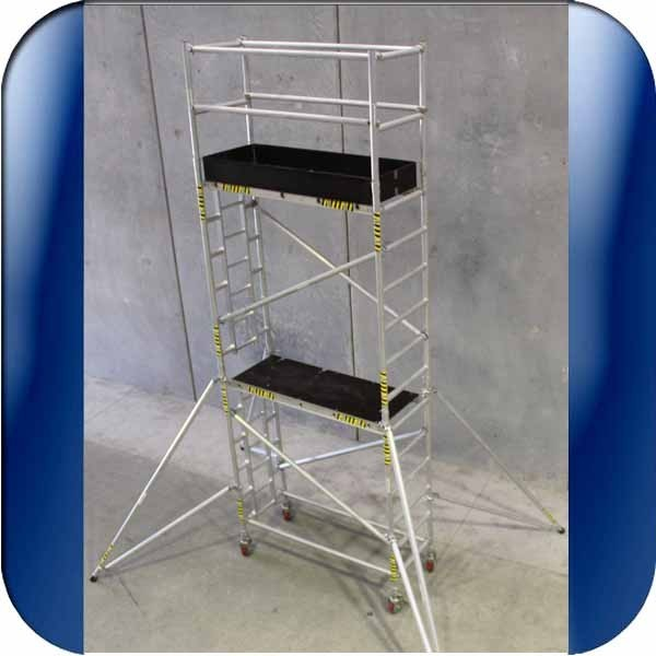 4 Aluminum Rolling Scaffold : M scaffolding with inbuilt ladder and working platforms