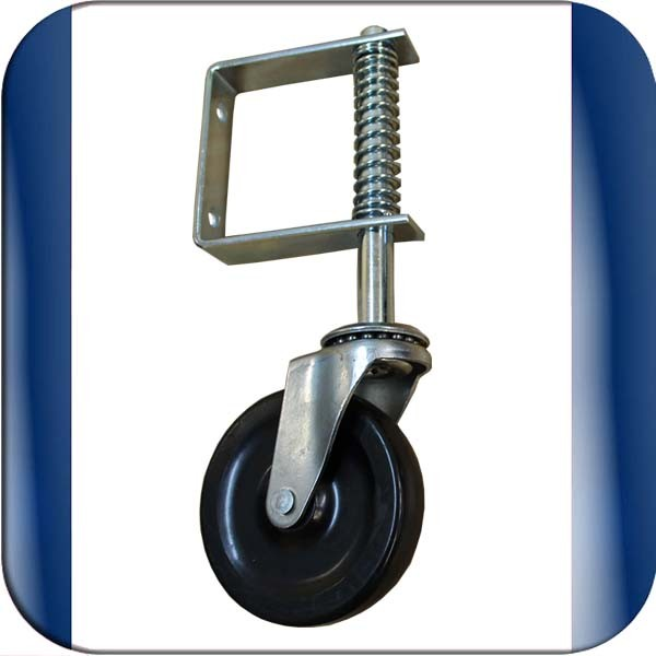 Spring Loaded Gate Support Wheel To Fit On The Free End