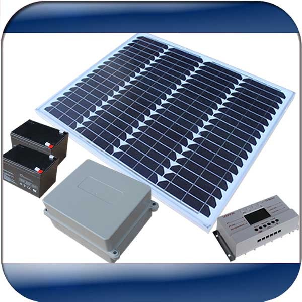 50w Solar Power System For Automatic Gate Openers With