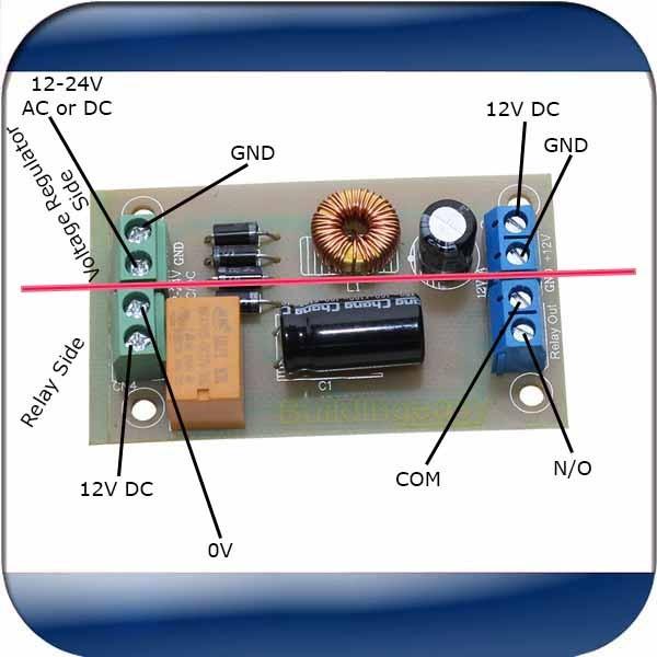 Voltage Regulator 12-24V AC or DC input convert to 12V DC  Maximum